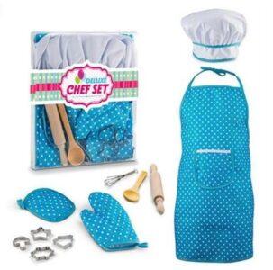 Обучать детей в игре поварской колпак фартук синий