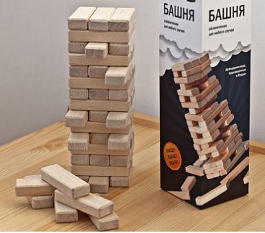 настольная игра Башня дженга игрушки для всей семьи