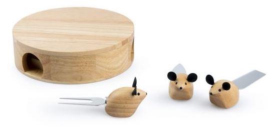 готовить с детьми: ножи-мышки, набор для сыра