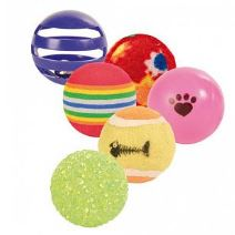 Набор мячиков для кошки Trixie метательная игрушка