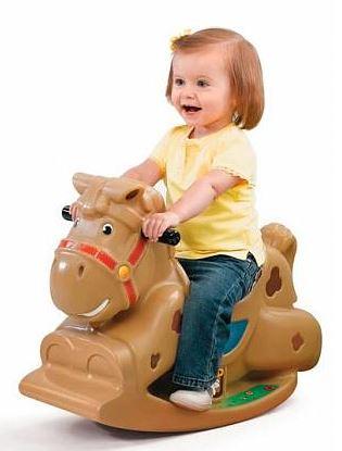 игрушечный конь для девочек и мальчиков (лошадка-качалка)