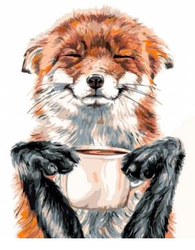 картина по номерам лис кофеман: игрушки своими руками