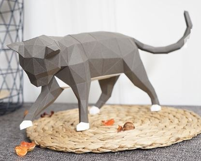 Кот полигональная модель