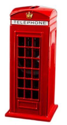 копилка-сувенир: лондонская телефонная будка