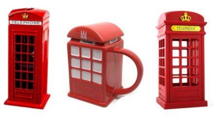 Лондонская телефонная будка: копилка, кружка, светильник