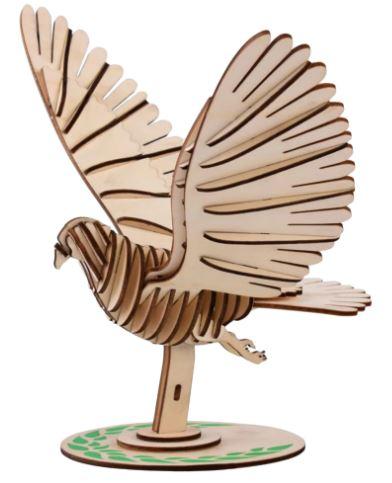 Деревянная птица-пазл 3D: игрушка для большого ребенка