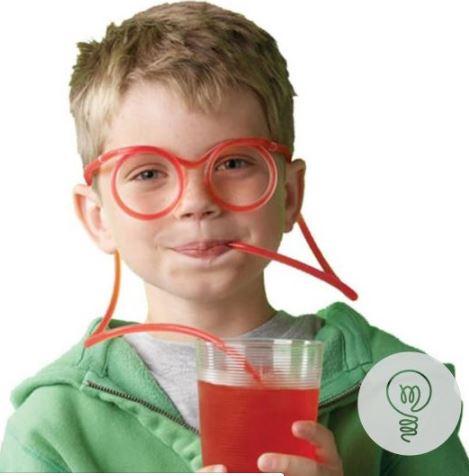 прикольная трубочка для напитков очки