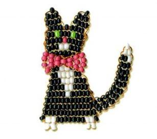 игрушки из бисера кот