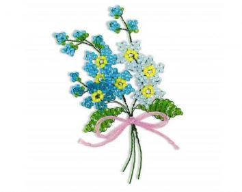 набор для бисероплетения: цветы незабудки