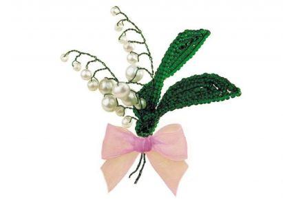 набор для бисероплетения: цветы ландыши