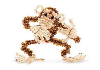 игрушки из бисера обезьянка