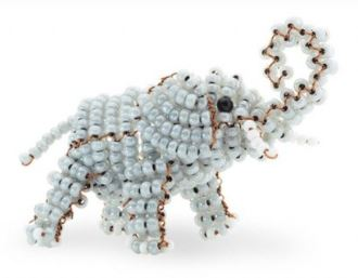 игрушки из бисера слоник