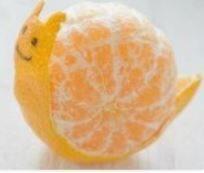 игрушки из фруктов и овощей: улитка
