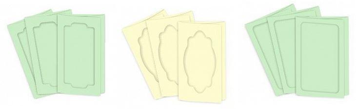 Заготовки для туннельной книги или открытки: открытки с фигурным окошком