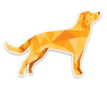 полигональные фигуры животных: собака