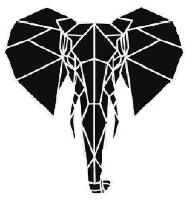 полигональные фигуры животных: слон