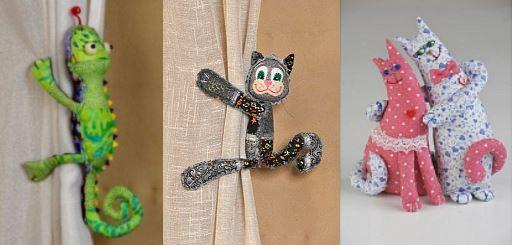 наборы пэчворк: коты, хамелеон, чучело-мяучело