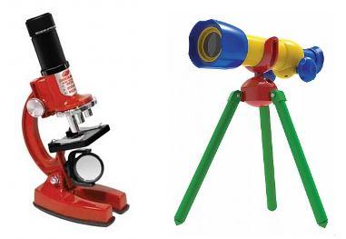 умные оптические игрушки: микроскоп и телескоп