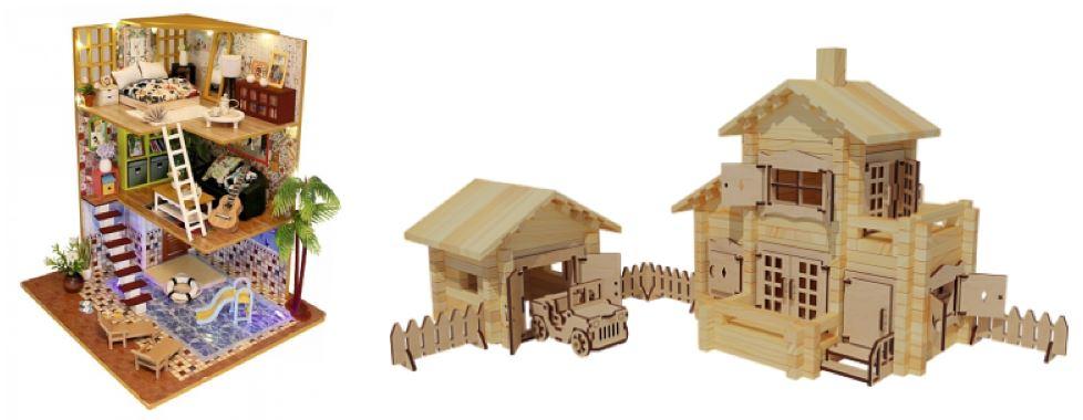 интерьерные игрушки: модели для сборки