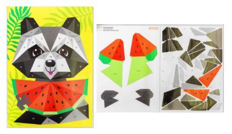 фигуры животных из бумаги: объемные полигональные аппликации для детей
