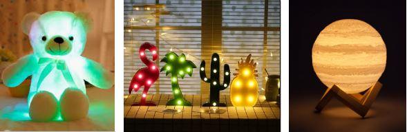 интерьерные игрушки для спальни: светильники