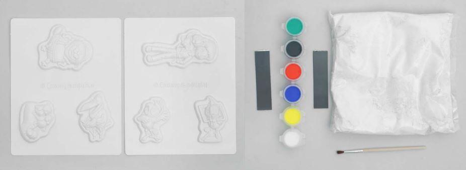 что входит в набор для творчества Lori: магнитики из гипса