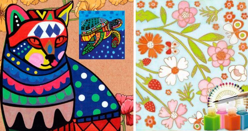 роспись по ткани, наборы для раскрашивания ткани
