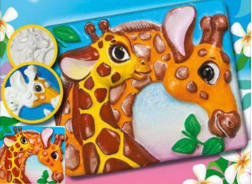 Поделки из гипса: жирафы