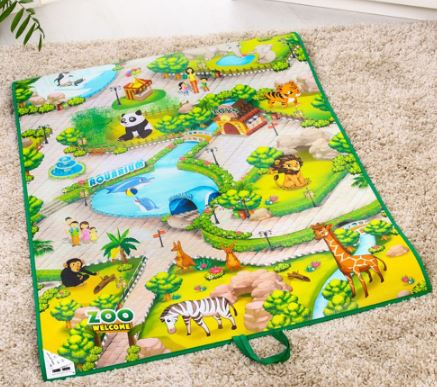 интерактивный игровой коврик поможет запомнить названия животных