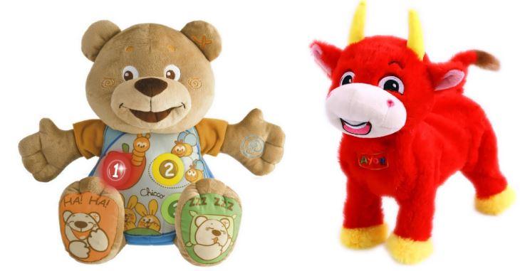 мягкие игрушки-зверушки помогают ребенку учить английский