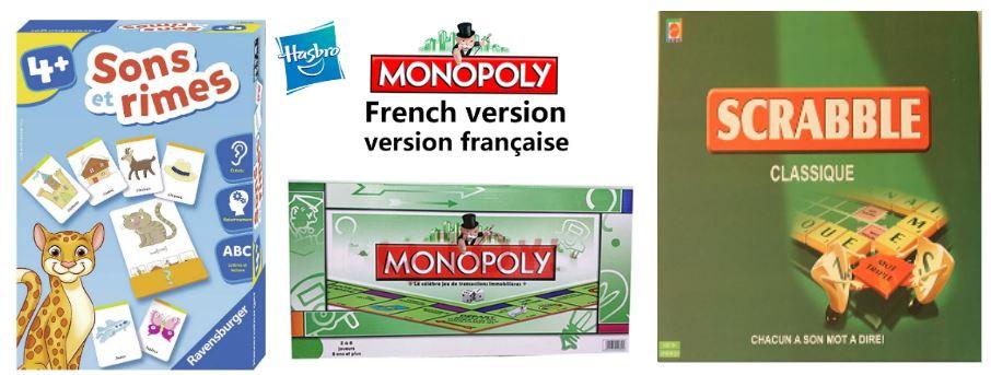 настольные игры на французском