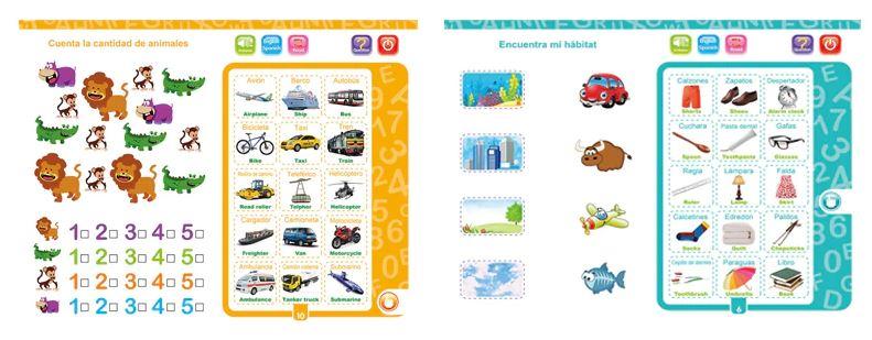 Интерактивная книга для изучения детьми испанского