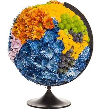 подарок для учителя (композиция из цветов и фруктов)